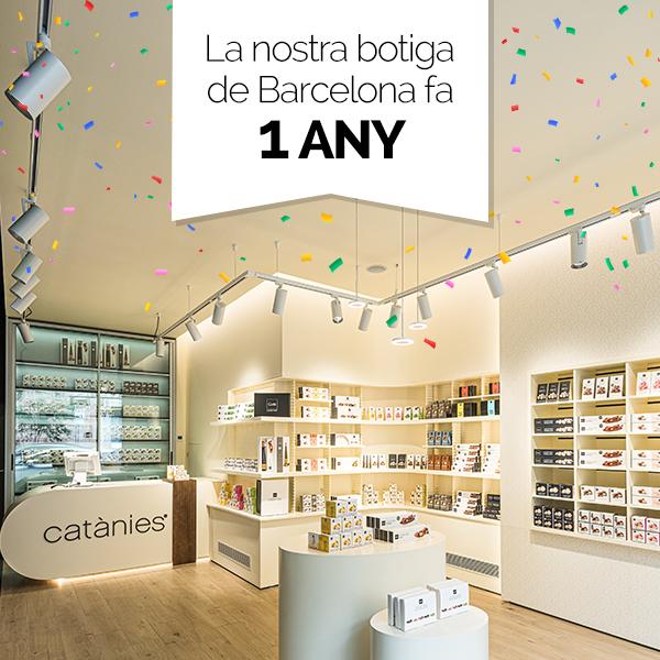 La nostra1a botiga de Barcelonafa un any